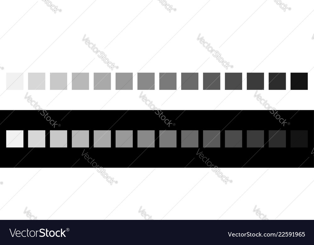 Grayscale Colors On Black And White Monochrome Vector Image