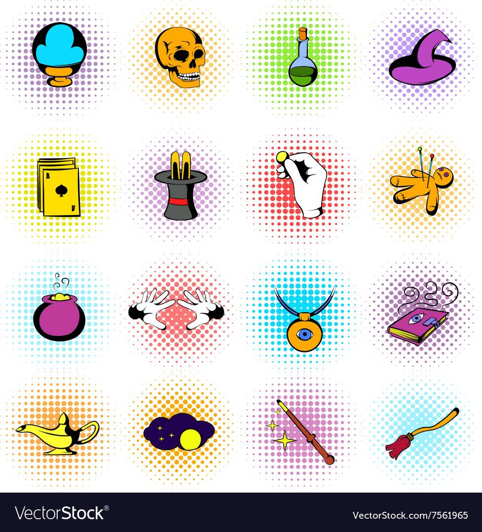 Magic comics icons
