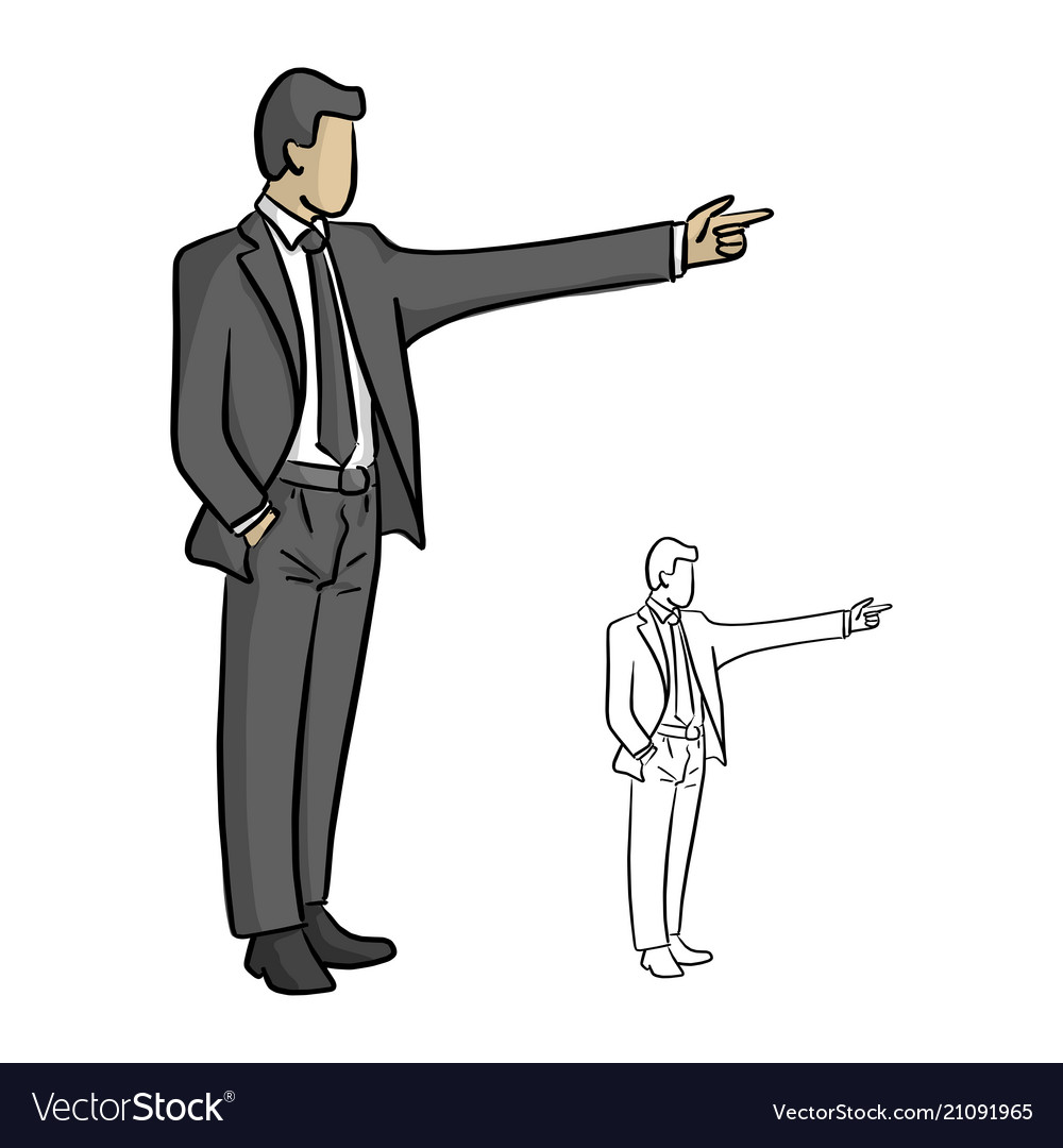 Male businessman pointing to the blank space