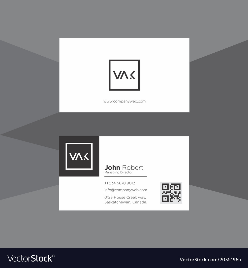 Minimal black and white business card royalty free vector minimal black and white business card vector image reheart Images