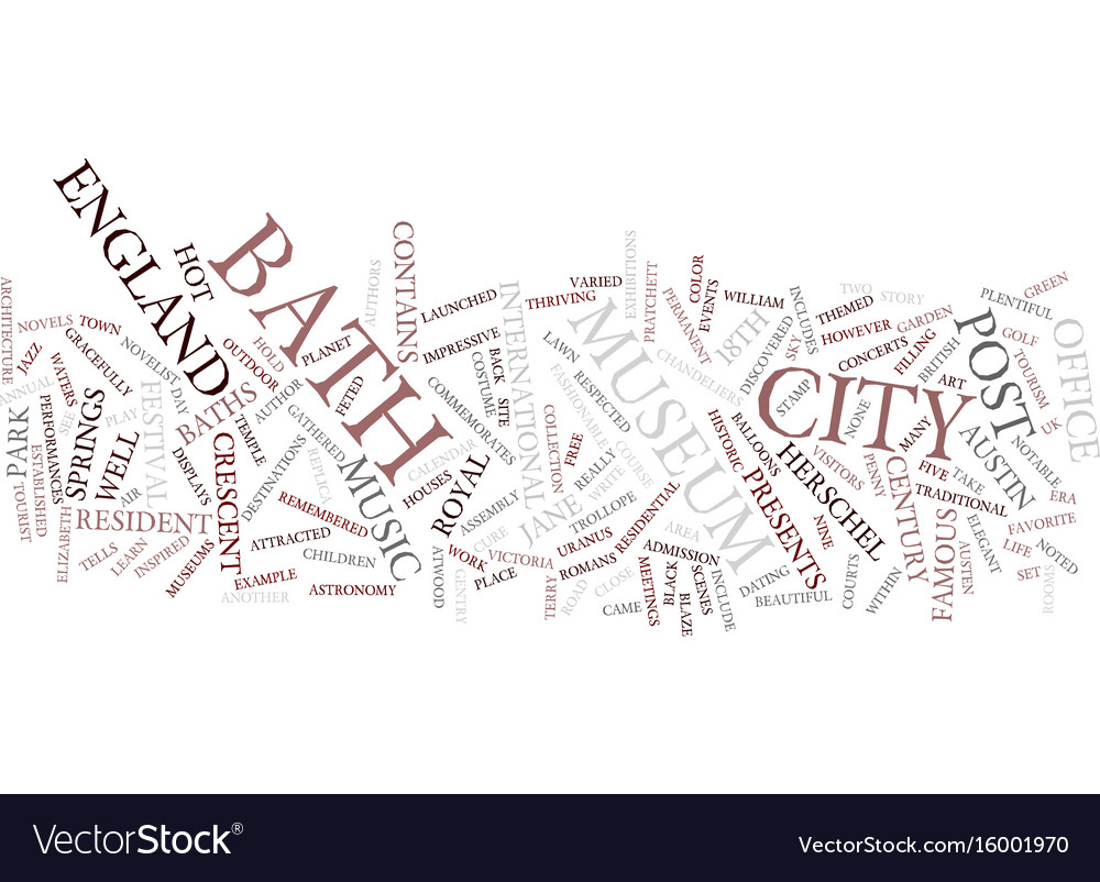 Bath lifts and you text background word cloud Vector Image