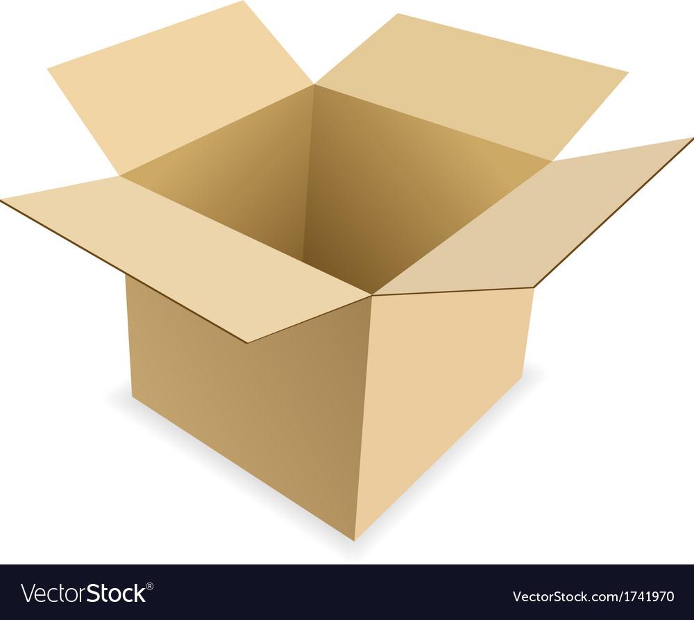 carton box royalty free vector image vectorstock rh vectorstock com box vector free box vector free