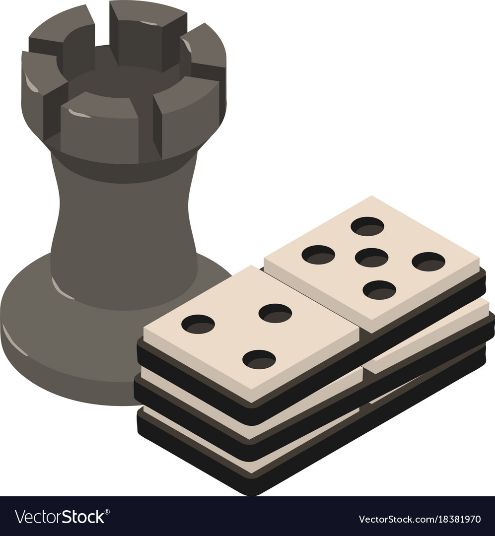 Chess icon isometric 3d style