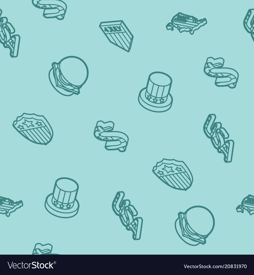 Independence day isometric pattern