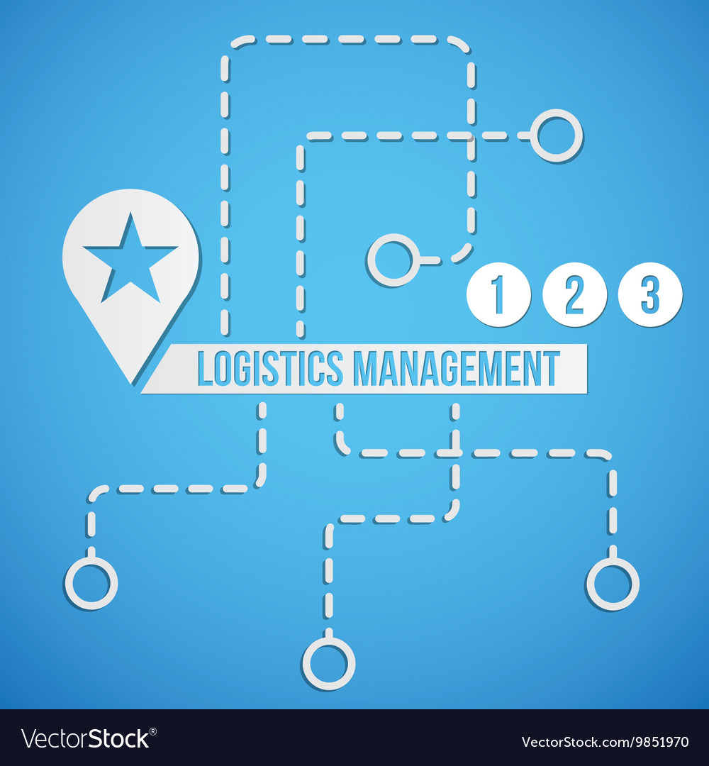 Logistic concept set icon and sympols
