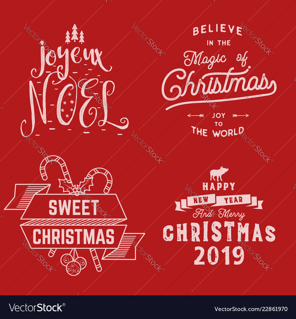 Merry christmas happy new year joyeux noel 2019