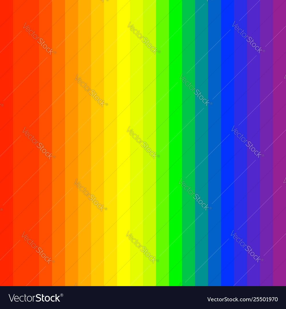 Rgb Rainbow Spectrum Colored Stripes Lines Vector Image