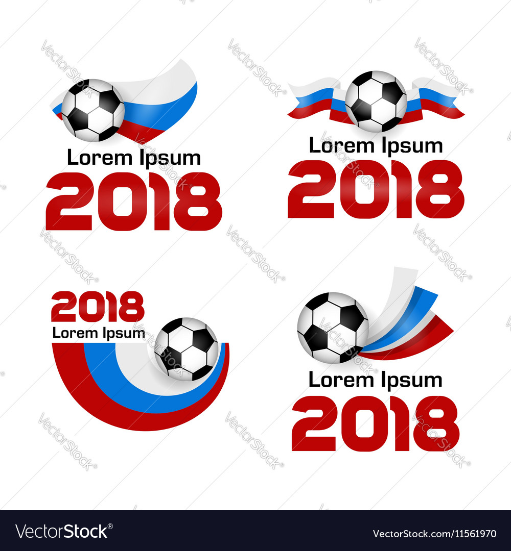 Set logo Football Championship 2018 Russia