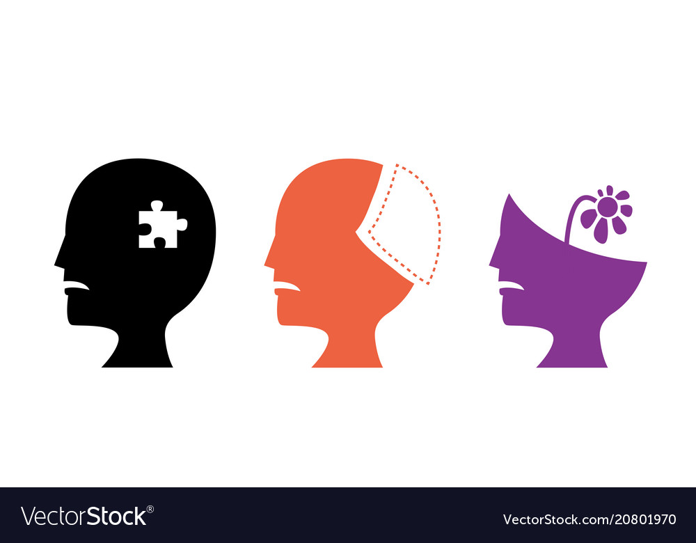 Set of alzheimers disease icons art