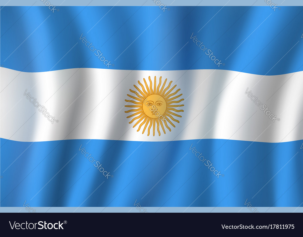 3d Flag Of Argentina National Symbol Royalty Free Vector
