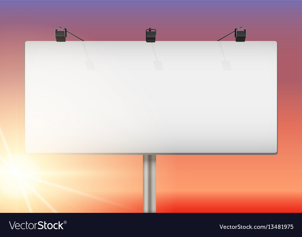 Closeup empty mockup billboard vector image