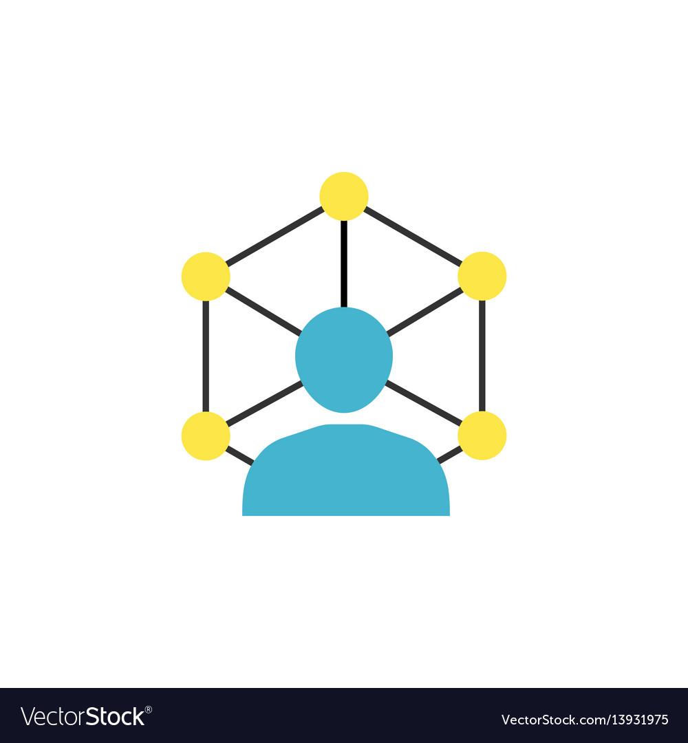Community network flat icon vector image
