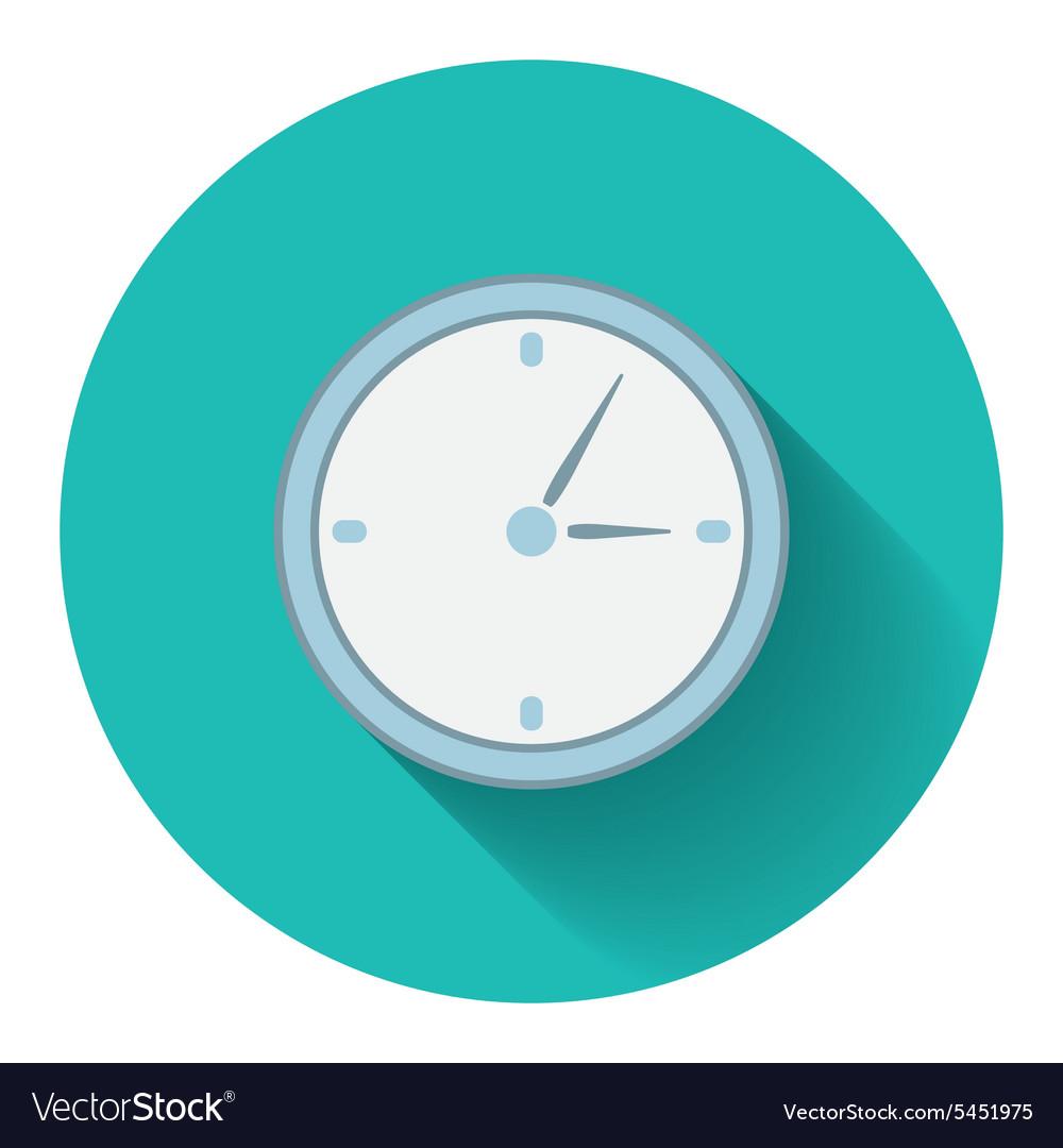Flat design modern of analog clock icon
