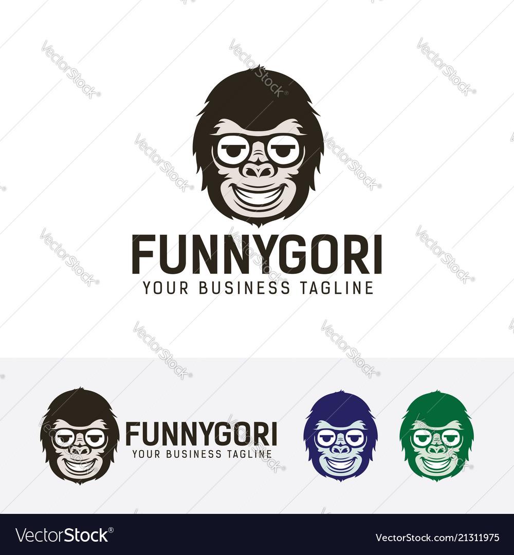 Funny gorilla logo design