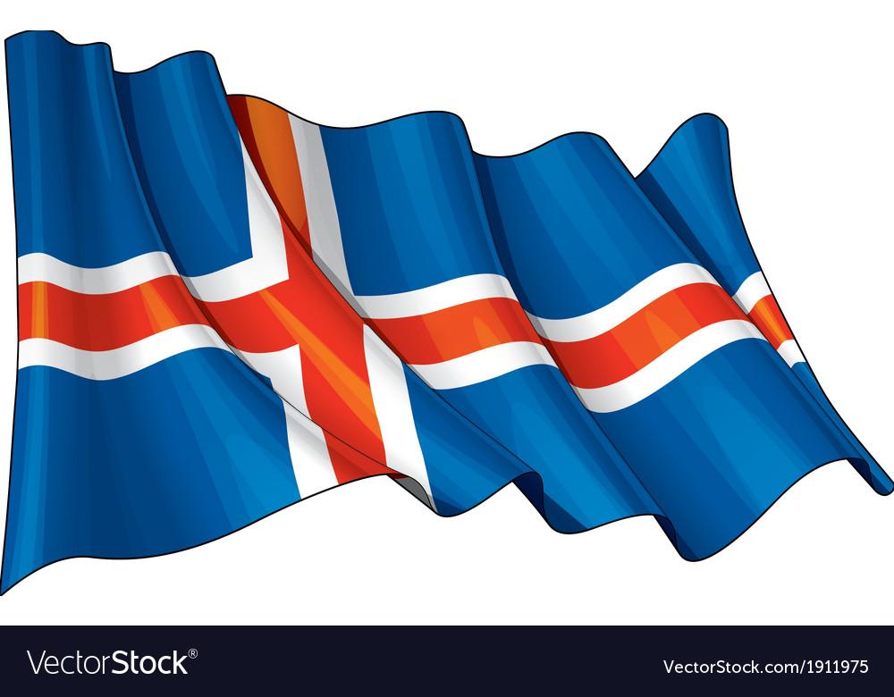 Iceland Flag Grunge vector image