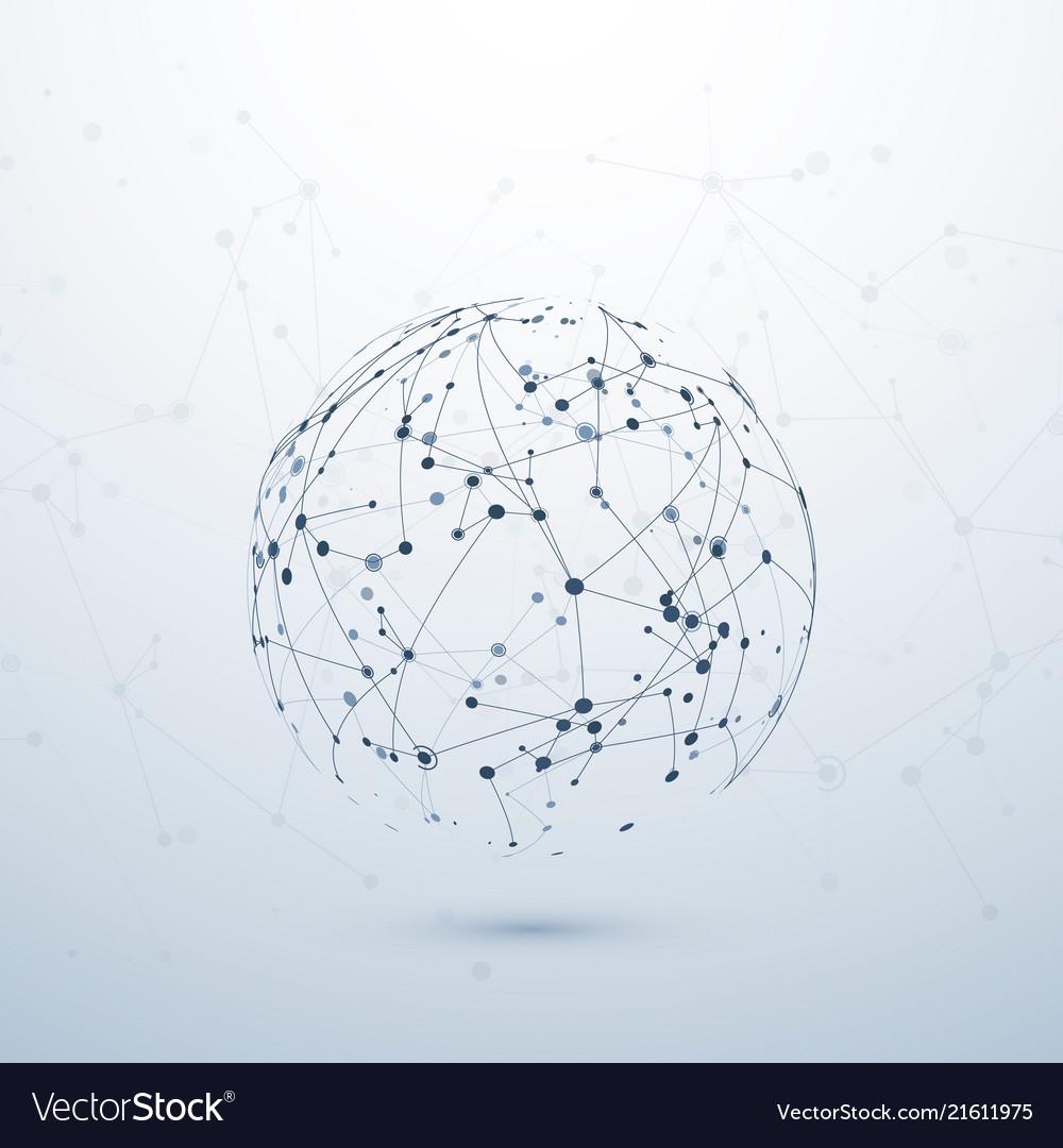 Plexus data visualisation complex chemical node