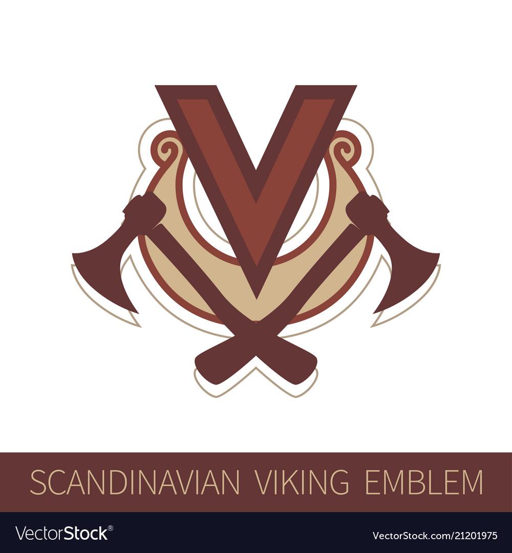 Scandinavian viking emblem