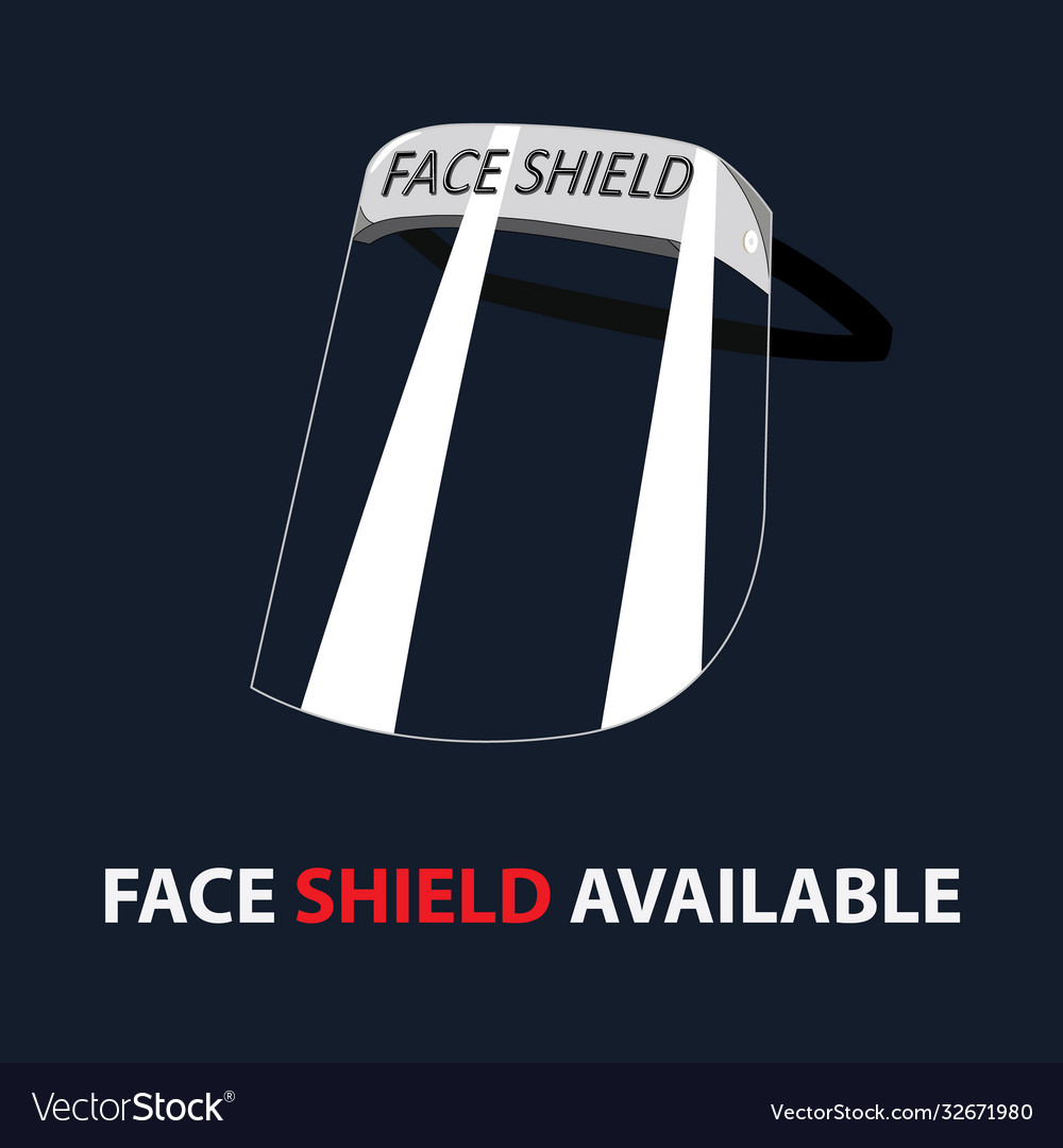 Clear plastic face shield protection use doctor