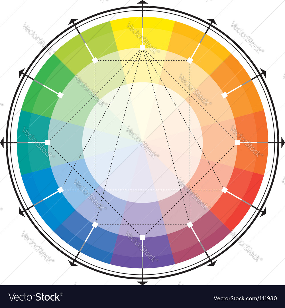 Color Wheel Royalty Free Vector Image