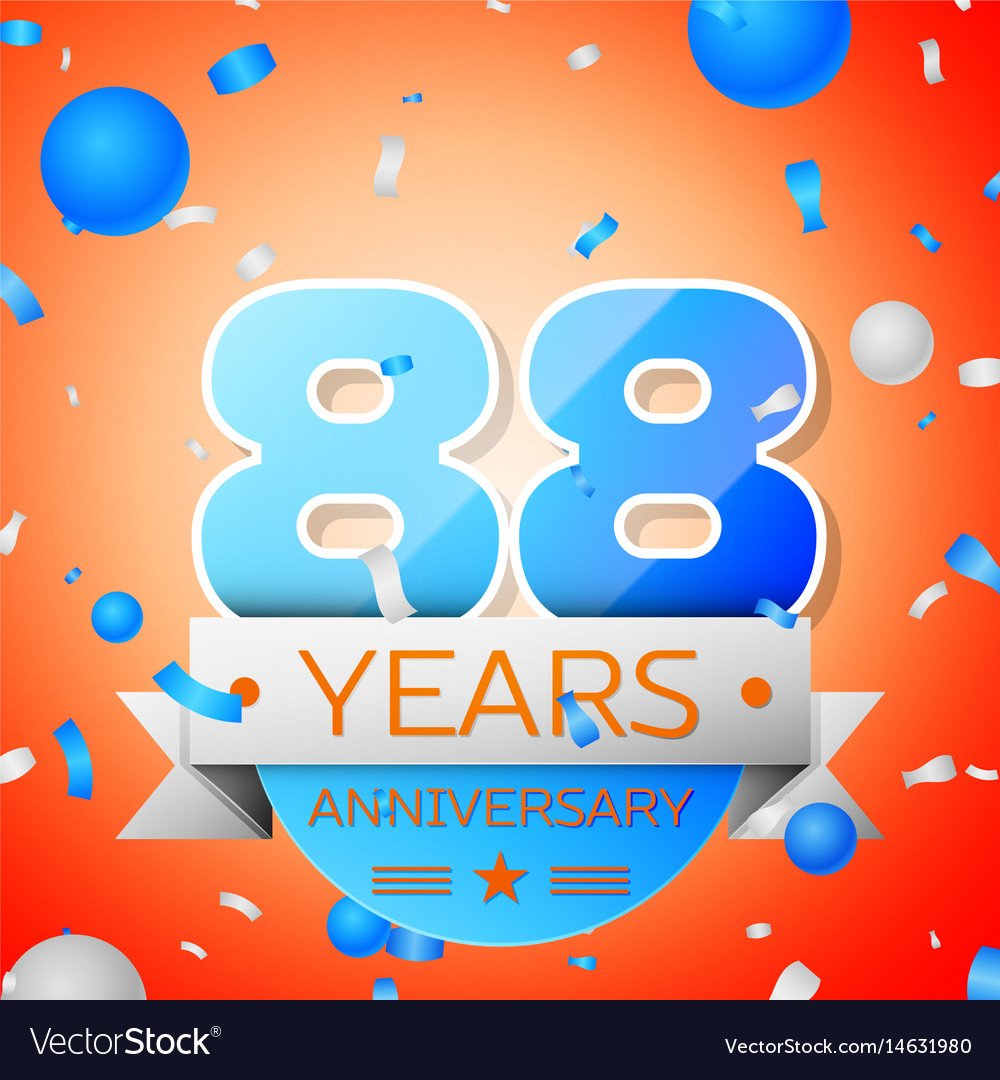 Eighty eight years anniversary celebration vector image
