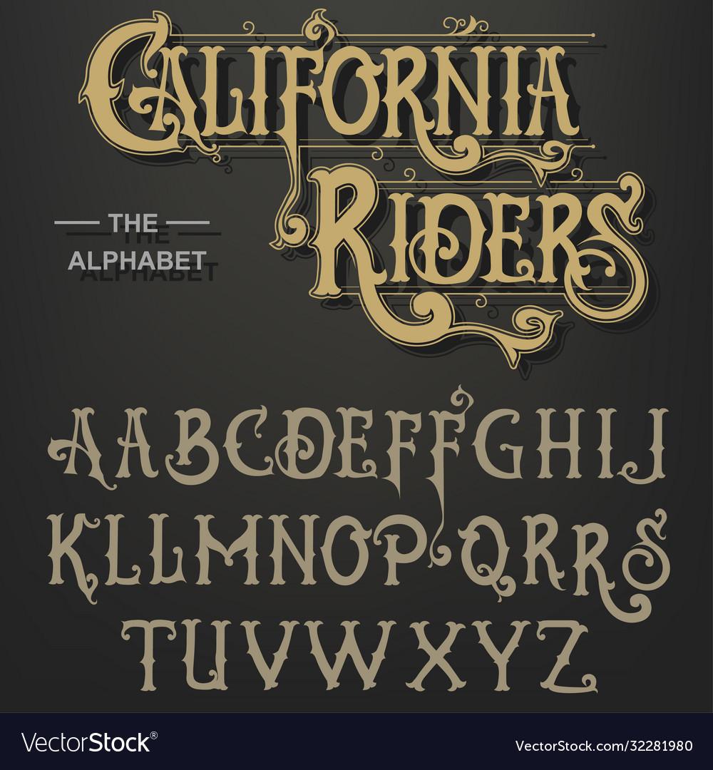 Gothic font original typeface handmade medieval