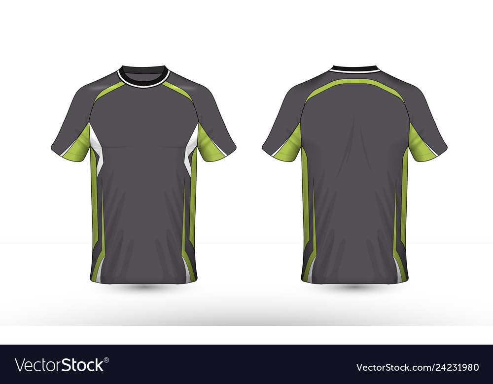 Grey green and white layout e-sport t-shirt