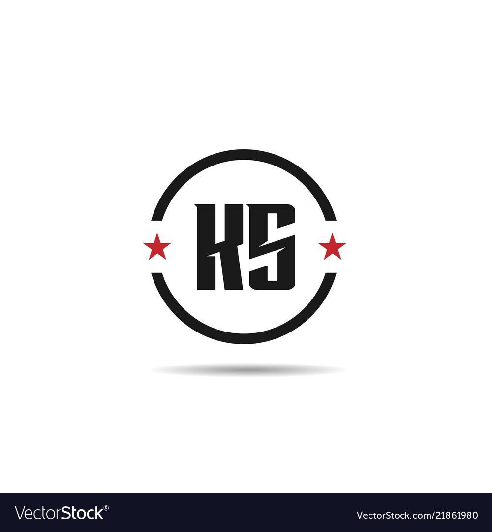 initial letter ks logo template design royalty free vector vectorstock