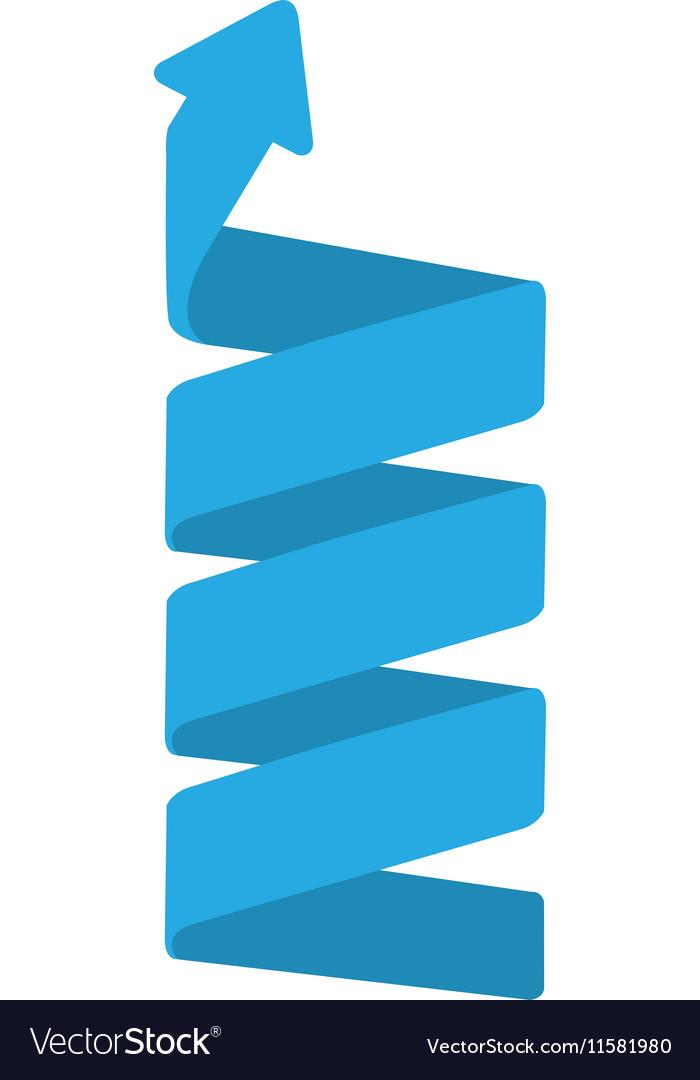 Spiral blue arrow