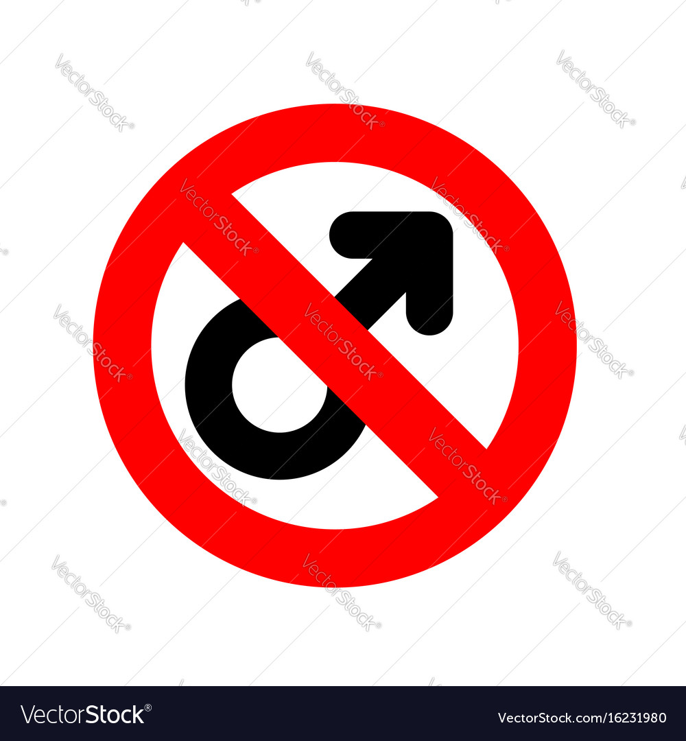 Stop men prohibiting red sign ban male feminism