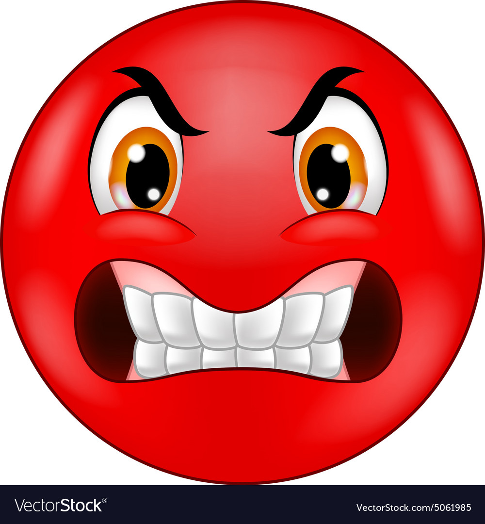 Angry Smiley Emoticon Royalty Free Vector Image
