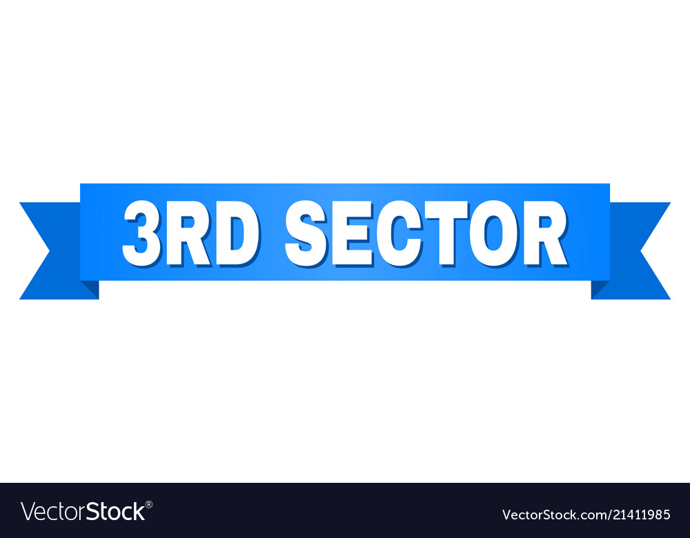 Blue tape with 3rd sector text