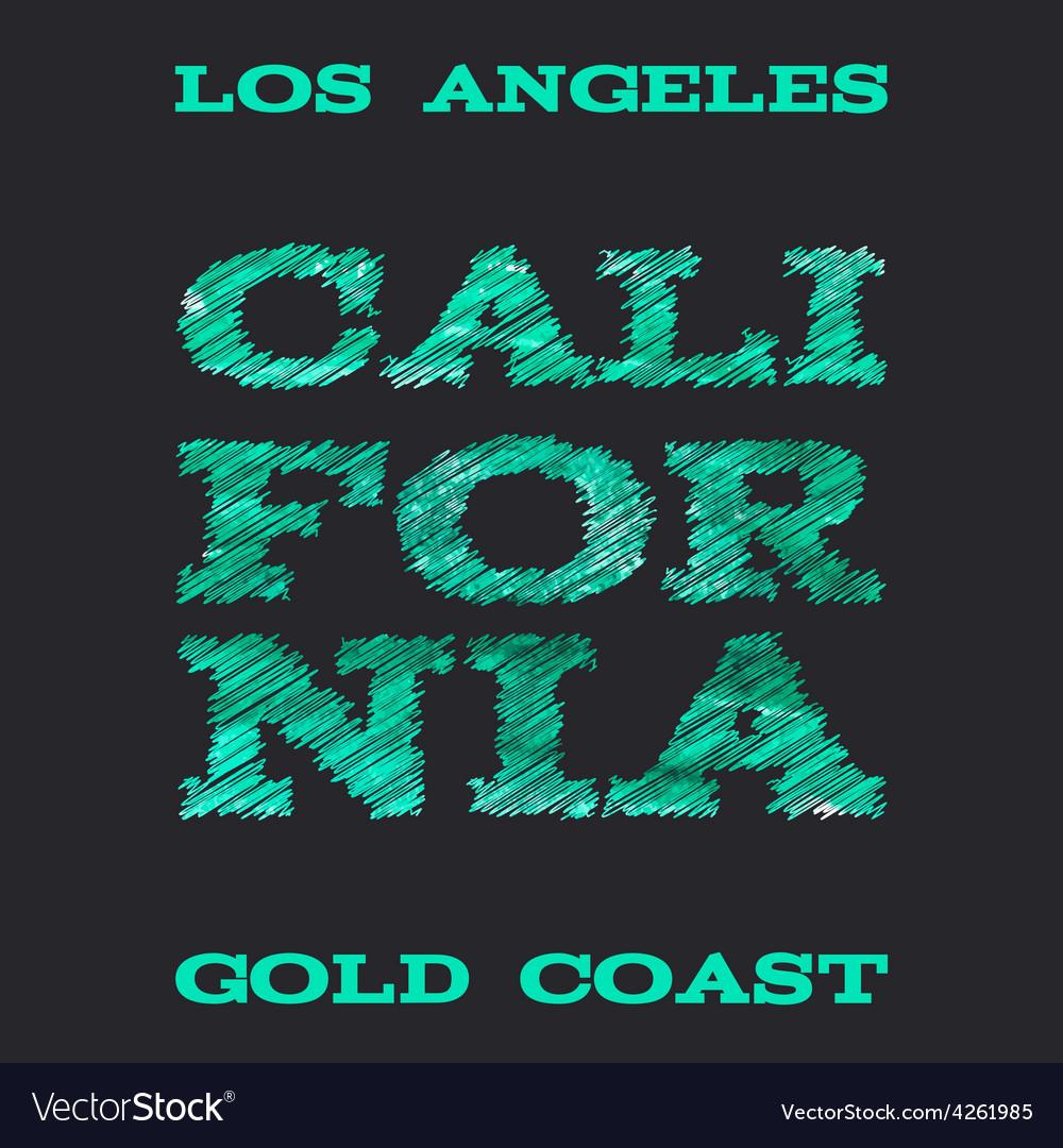 California surf typography t-shirt graphics