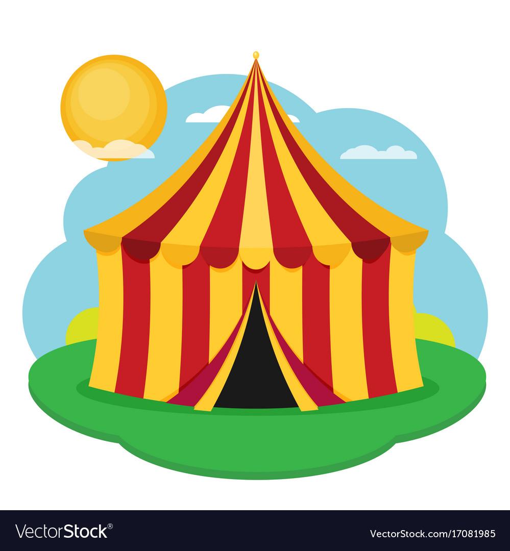 Circus tent flat design