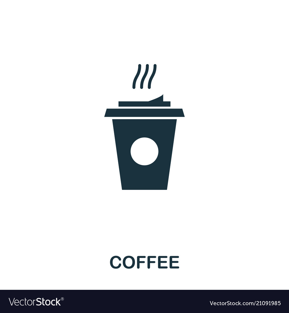 Coffee icon mobile apps printing and more usage