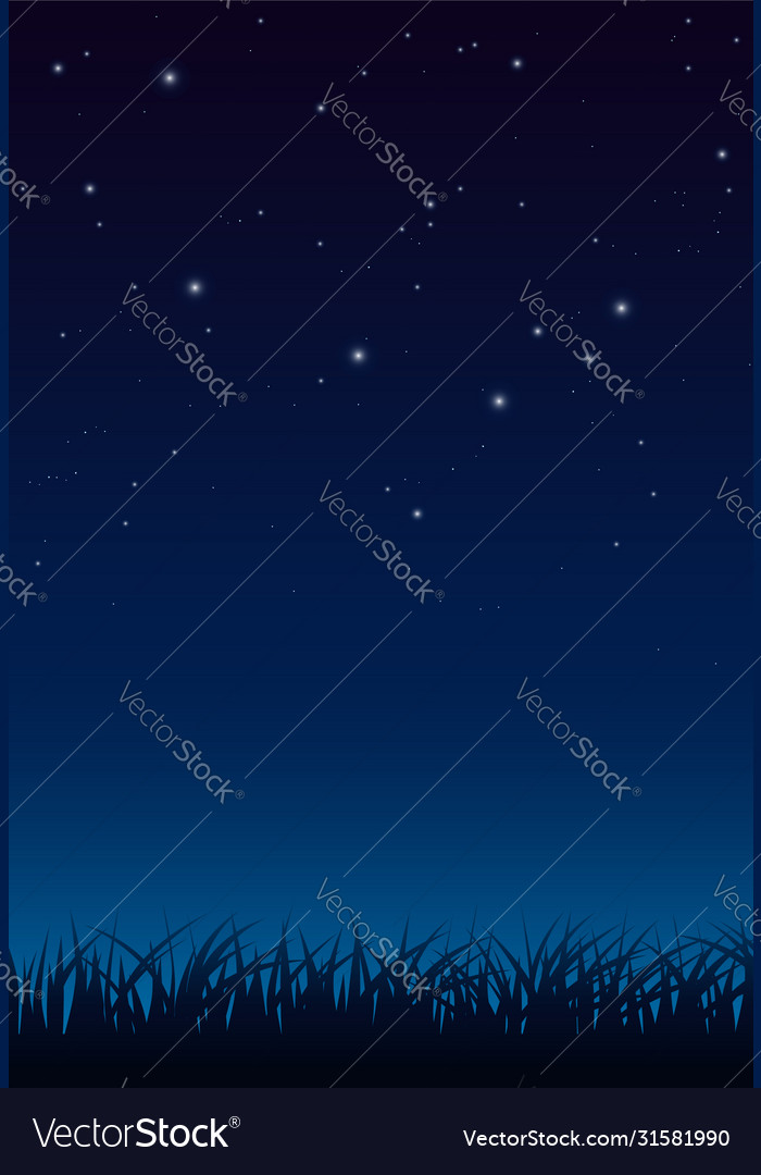 Blue dark night sky with lot shiny stars and