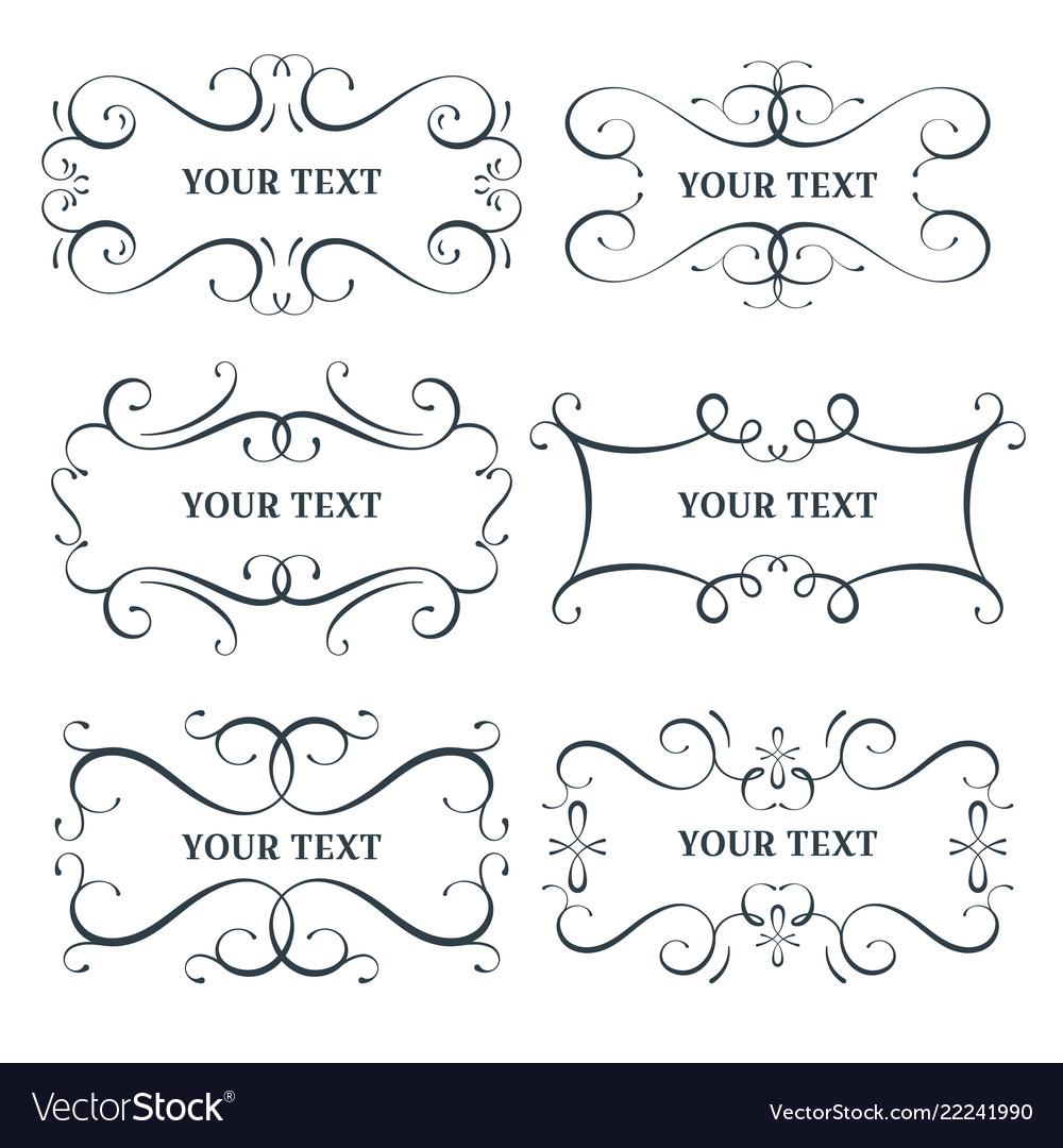 Flourish frames set scroll border
