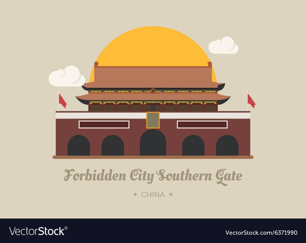 Forbidden City Southern Gate china