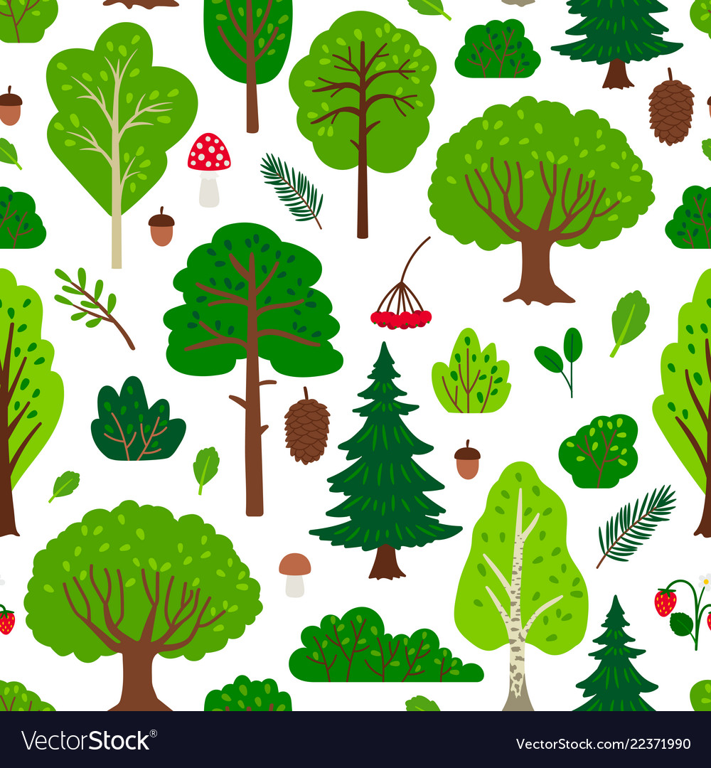 Forest tree pattern