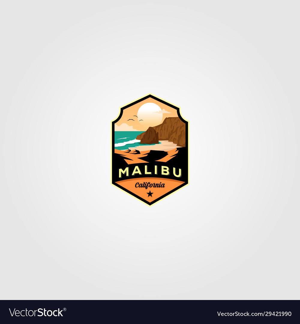 Malibu california beach logo design