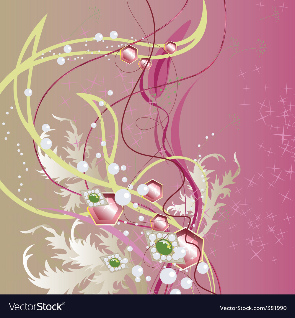 Precious bouquet vector image