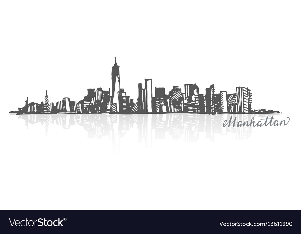 Sketch of manhattan new york
