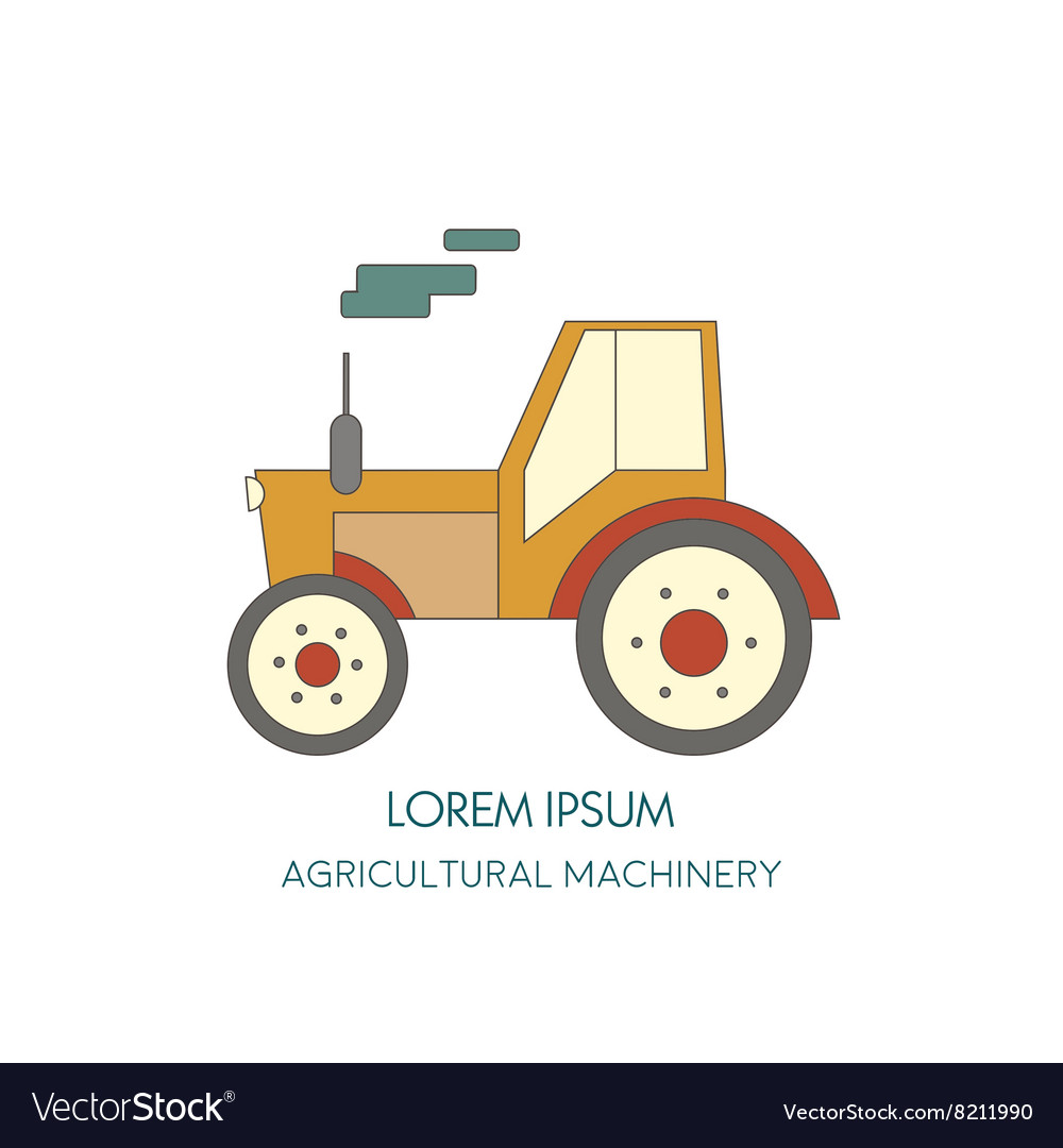 Tractor icon Agricultural machinery