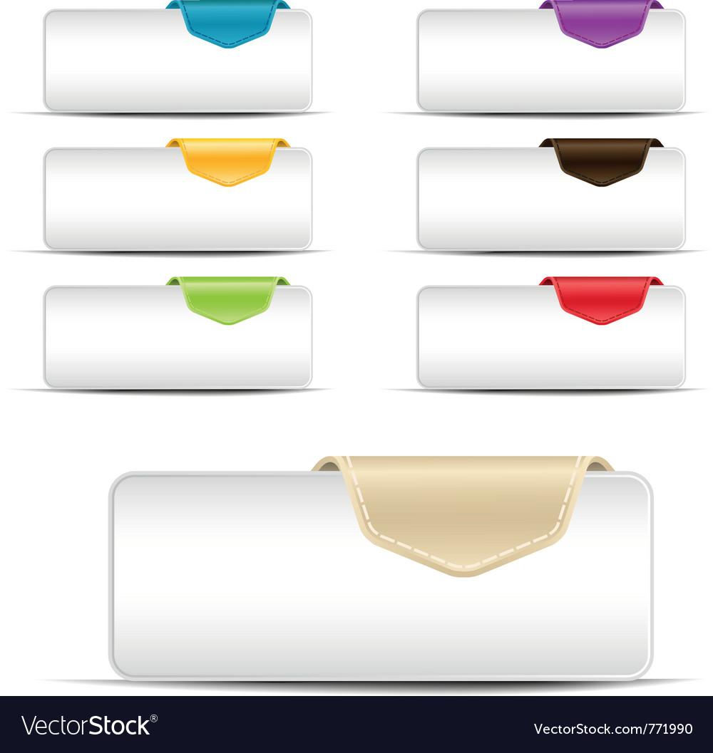 Web ui banners vector image