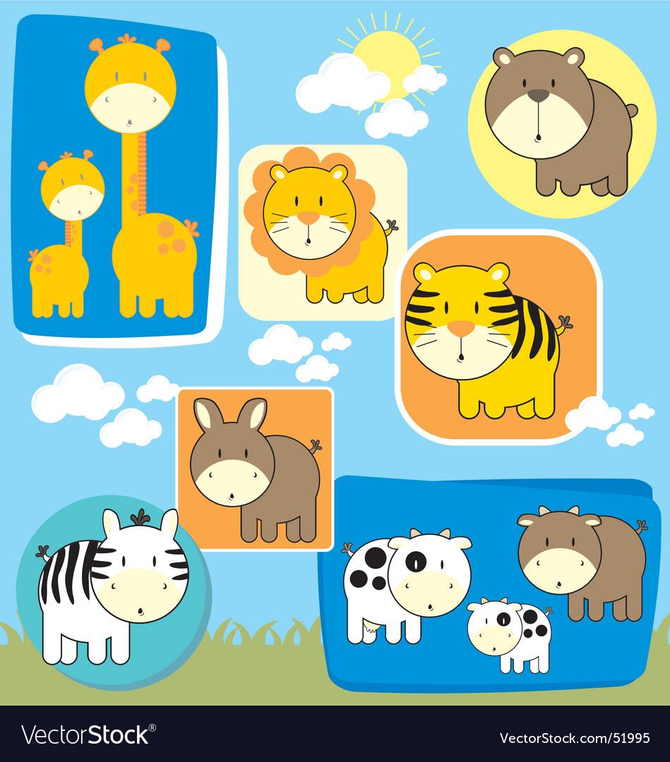 Baby animals set