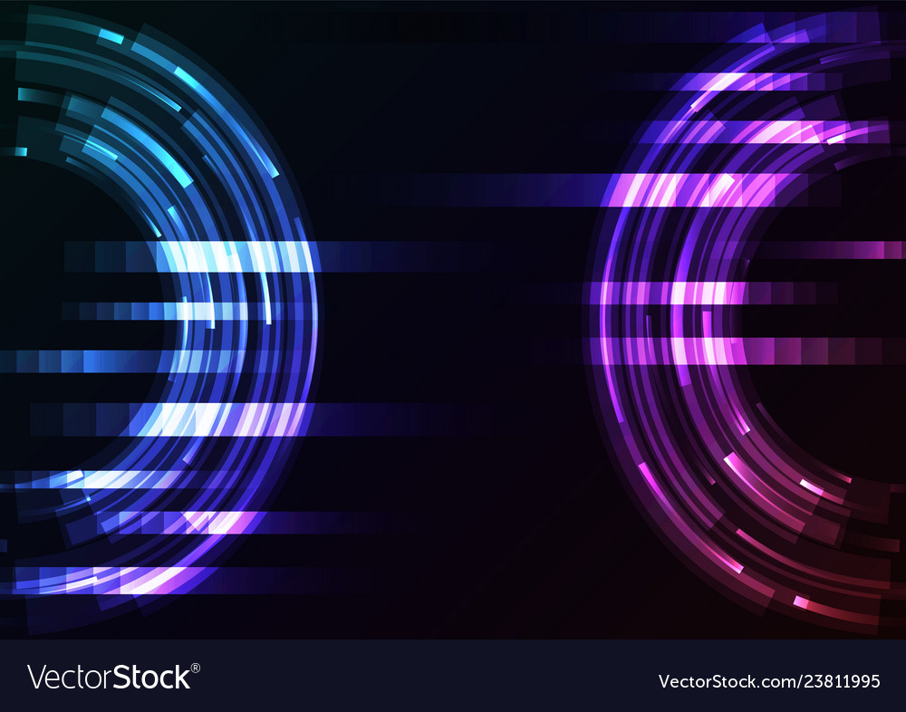 Circle digital abstract pixel background