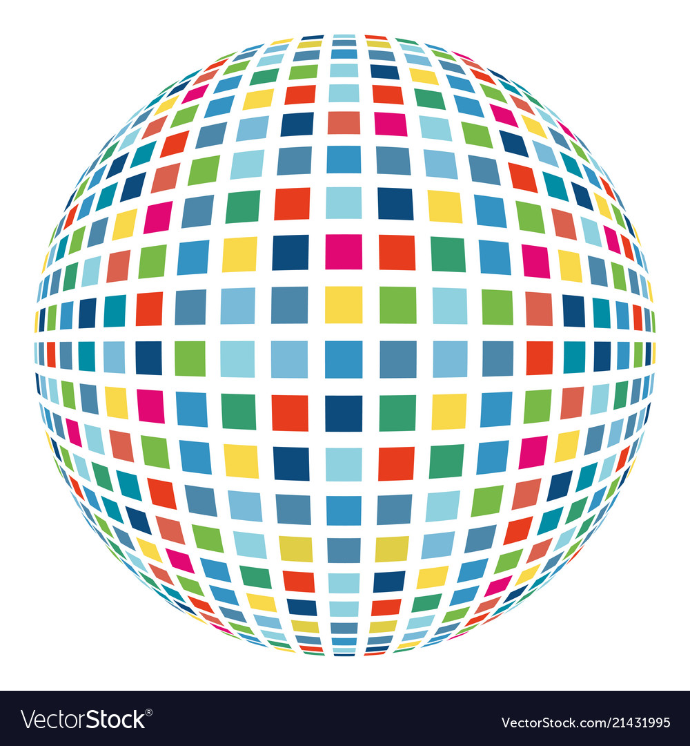 Colorful Abstract Mosaic Sphere 3d Background
