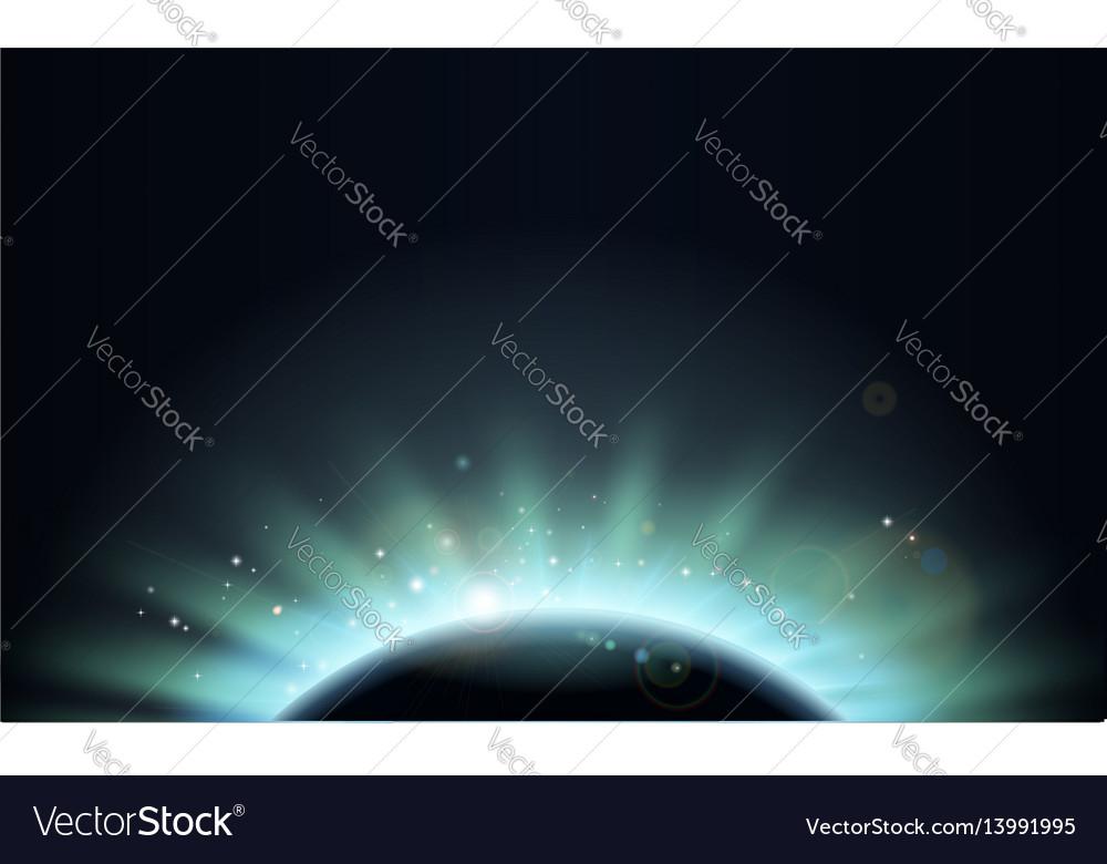 Eclipse sun planet background vector image