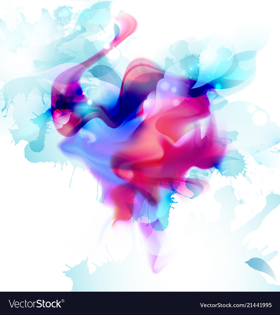 Magenta and blue colorful blot spread to light