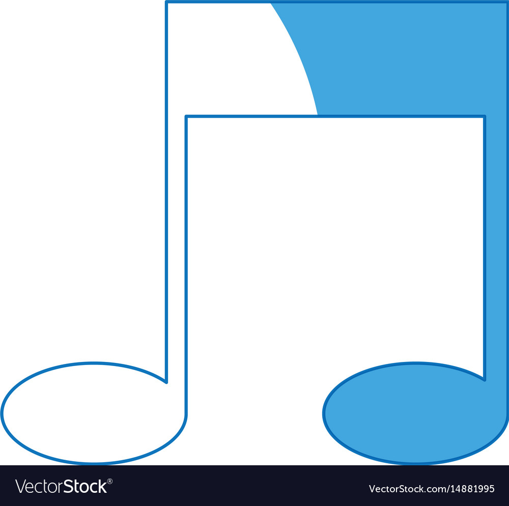 Note music melody sound artistic vector image
