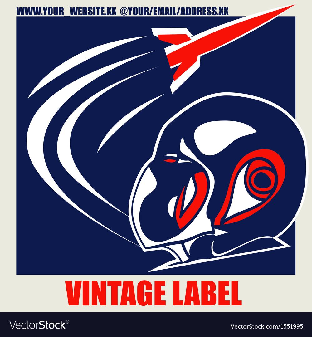Retro Space Label vector image